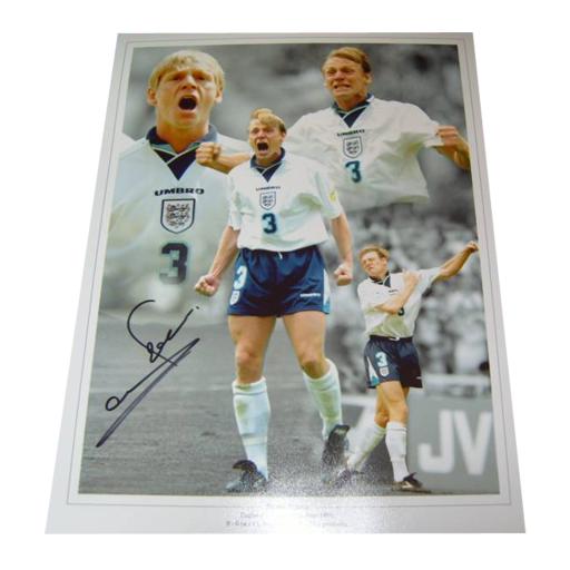 Stuart Pearce England Legend Autographed Photo Montage Euro 96