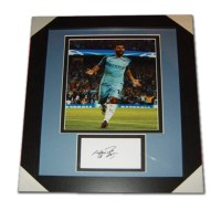 Sergio Aguero Manchester City Signed & Framed Photo Mount