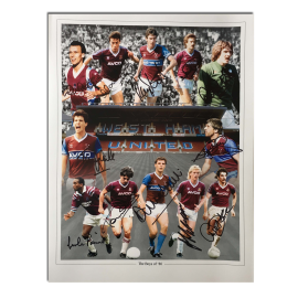 West Ham Utd Legends The Boys of 86 x12 signed photo montage