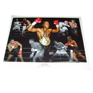 Nigel Benn Boxing Autographed Photo Montage