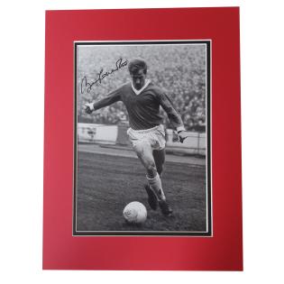 Bobby Charlton Manchester United Man Utd Legend Signed Mounted Photo