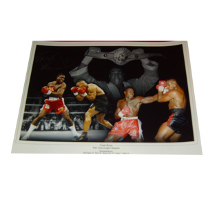 Frank Bruno Boxing Autographed Photo Montage