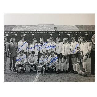 Derby County FC Division 1 Winners 1972 signed photo x7 McFarland etc