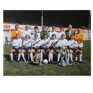 Derby County FC Division 1 Winners 1975 signed photo x7 McFarland etc