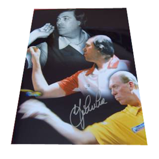 John Lowe Darts Legend Signed Photo Mount