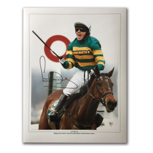 A P McCoy Legendary Jockey Horse Racing Signed  Grand National Photo Mount