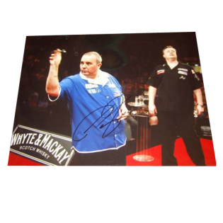 Phil The Power Taylor Darts Legend Signed Photo
