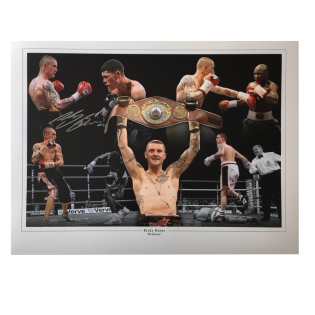 Ricky Burns Boxing Autographed Photo Montage