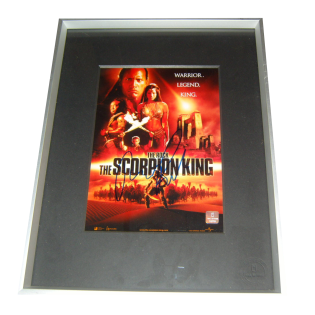 The Rock Dwayne Johnson The Scorpion King Autographed & Framed Photo